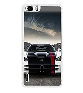 Racing Car 2D Hard Polycarbonate Designer Back Case Cover for Huawei Honor 6