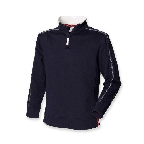 Front Row Men's Zip Neck Sweatshirt Navy/Arctic White XL