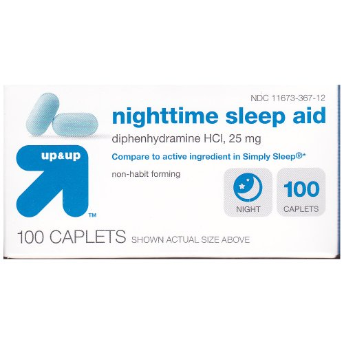 Up and Up Nighttime Sleep Aid 100ct Compare to