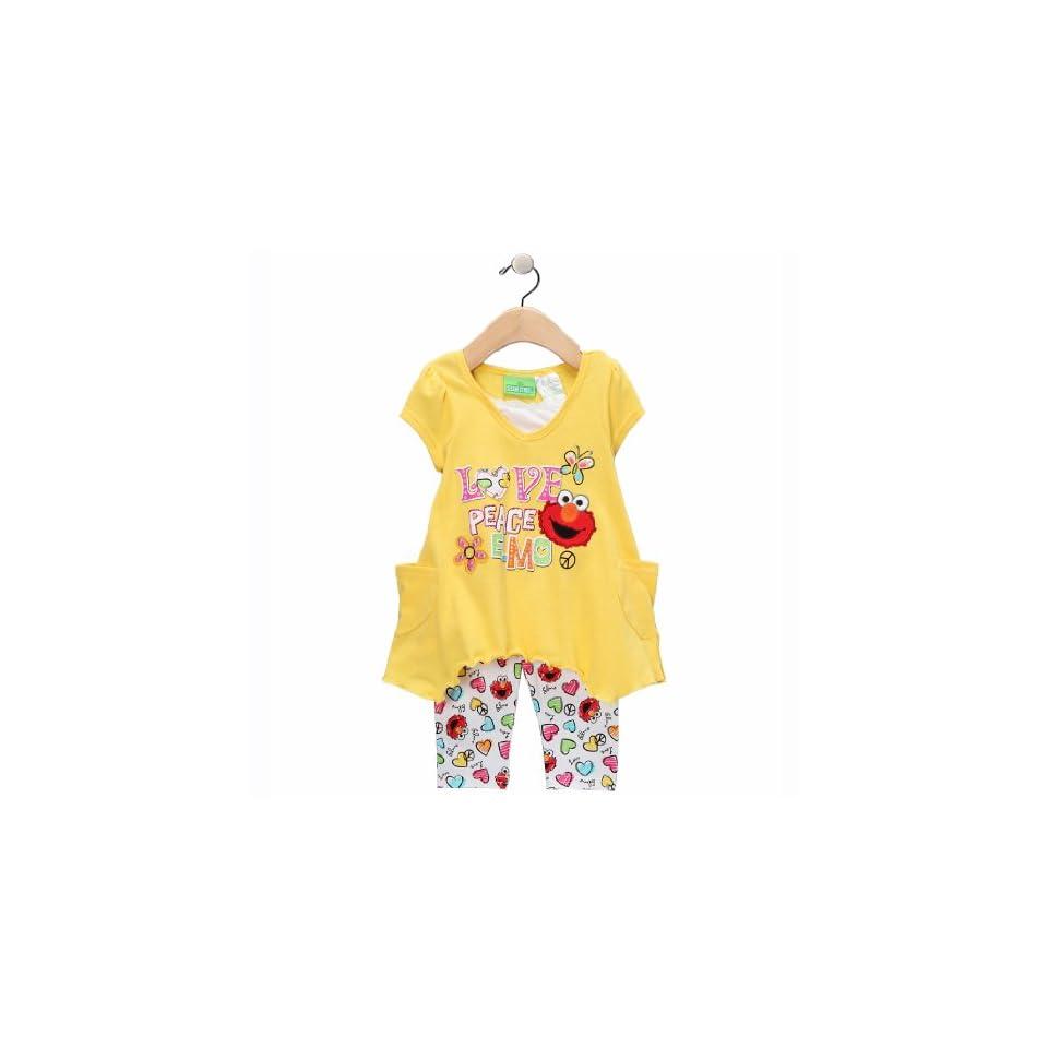 9cc12043d0c78 Sesame Street Elmo Love & Peace Leggings Set Toddler on PopScreen
