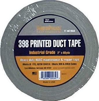 "Tyco 398NP Printed Duct Tape, 200 Degree F Performance Temperature, 60 yds Length x 2"" Width"