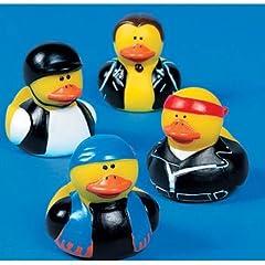 12 Motorcycle Biker Rubber Duckys