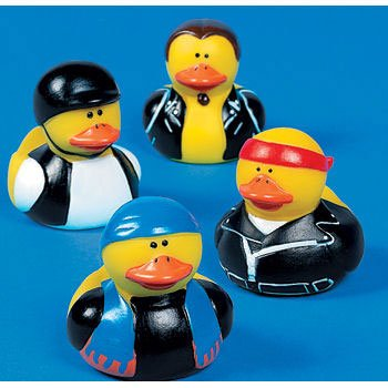 12 Motorcycle Biker Rubber Duckys back-1006822