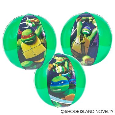 1 Dozen inflatable TEENAGE MUTANT NINJA TURTLE Beach Balls (16in each) / Theme Party Favor / Decor / Gift / Prize / Giveaway by RIN