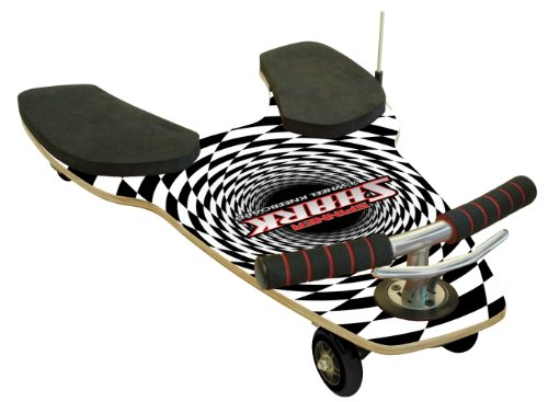 Fuzion Spinner Shark Black And White Spiral front-626952