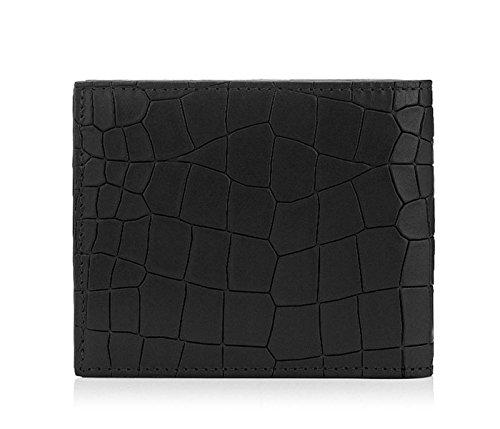 【ジミーチュー】 JIMMY CHOO MARK Black Leather Crocodile Embossed Wallet 財布 【並行輸入品】 EJIIGO