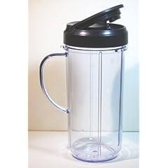 Magic Bullet On The Go Mug with Flip Top Travel Lid, 16 oz