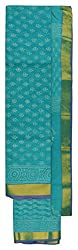 Maheshwari Women's Chanderi cotten Unstitched Dress Material (Sky Blue)