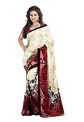 Bansy Fashion Multi Coloured Georgette Printed Saree/Sari