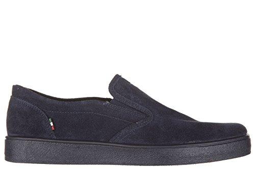 Armani Jeans slip on uomo in camoscio sneakers nuove originali blu EU 42 935011 6A400 09936