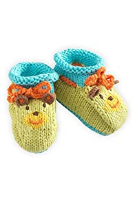Joobles Fair Trade Organic Baby Booties - Huggy Bear (0-6 Months)