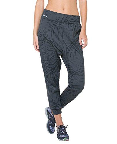 Pantaloni sarouel sportivo tipo DESIGUAL RELAX grigio S