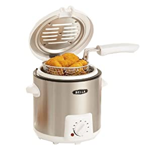 BELLA 13691 Deep Fryer, 0.9-Liter, Stainless Steel