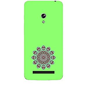 Skin4gadgets Artistically Drawn Mandala Tattoo In Pastel Colors -Medium Spring Green, No.13 Phone Skin for ZENPONE 5