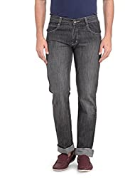 Ausy Men's Black and Grey Jeans