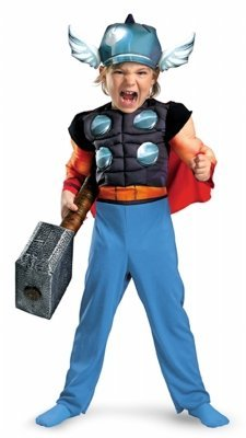 Thor Toddler Muscle Costume - Toddler Small