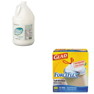 KITCOX70427DPR84022 - Value Kit - Dial Antimicrobial Soap w/Moisturizers and Vitamin E (DPR84022) and Glad ForceFlex Tall-Kitchen Drawstring Bags (COX70427)