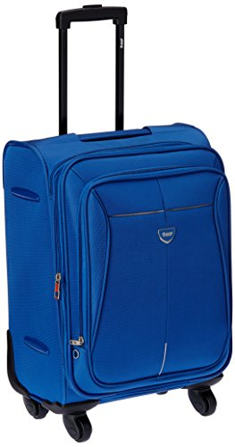 Vip VIP Aqualite II Strolly Exp 4 Wheel Fabric Aqua Blue Softsided Carry-On (STAQU55ABL) Small Luggage (Brown)
