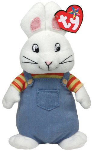 Ty Beanie Buddies Max Bunny Plush, Medium - 1