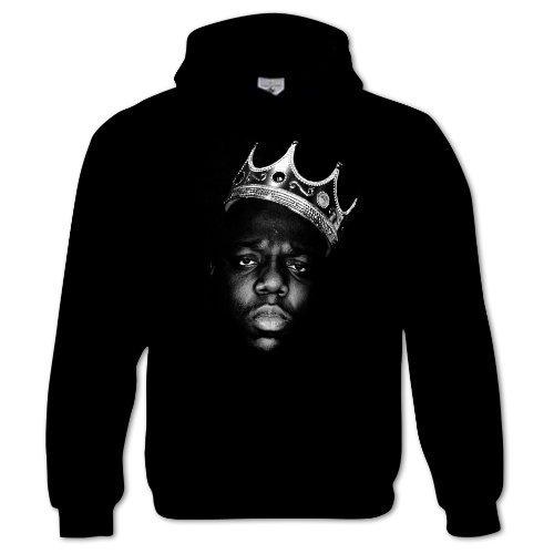 Bang Tidy Clothing Unisex-Adult Biggie Smalls The King Notorious B.I.G. Hip Hop Music Hoodie X-Large Black