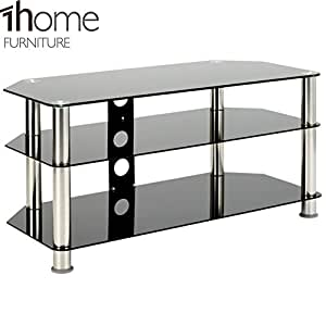 1home 120 cm gt5 glass tv stand for 32 70 inch plasma elektronik. Black Bedroom Furniture Sets. Home Design Ideas