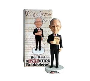 "Ron Paul Tea Party Revolution 7"" Bobble Head in Collector's Box"