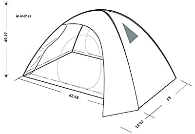 KingCamp™Seine Waterproof PU 5000mm, Durable Tear Resistant Windproof O Shape Inner Door, 2-Person Tent for Camping