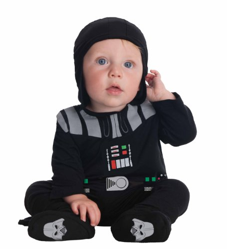 Star Wars Darth Vader Onesie And Headpiece, Black, 6-12 Months Costume