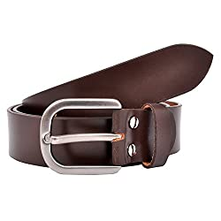 Arkom Pure Leather Plain Darky Comfy Brown Belt (50)