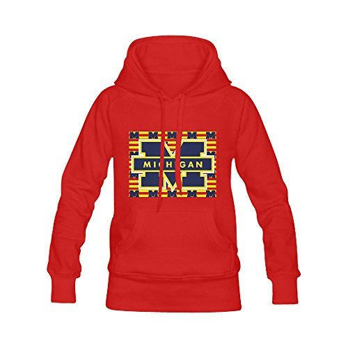 Burrows Custom Michigan Wolverines Men's Casual Style Hoodie Sweatshirts Red (Squamish Hooded compare prices)
