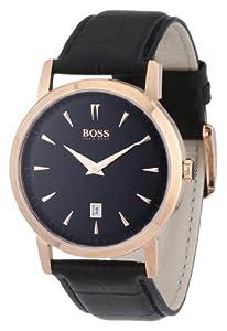 Hugo Boss 1512635 HB1013 Black Classic Rose Gold Men's Watch