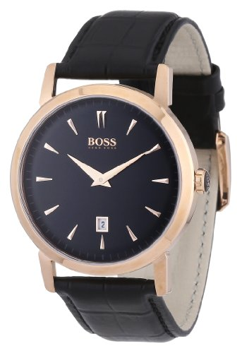 Hugo Boss 1512635 HB1013 Black Classic Rose Gold Men's Watch
