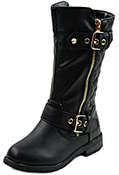 Mango-21k Little Girls New Knee High Flat Riding Boots Shoes