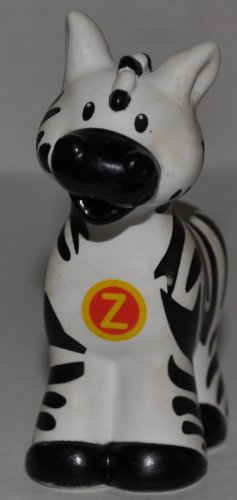 "Little People Zebra ""Z"" on Chest (2004) - Replacement Figure Accessory - Classic Fisher Price Collectible Figures - Loose Out Of Package & Print (OOP) - Zoo Circus Ark Pet Castle - 1"