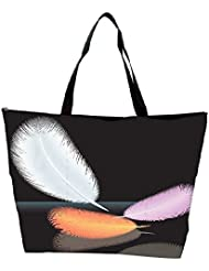 Snoogg Feathers Vector Waterproof Bag Made Of High Strength Nylon