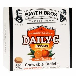 Smith Bros. Daily C 500Mg Chewable Tablets, Tangy Orange 45 Ea
