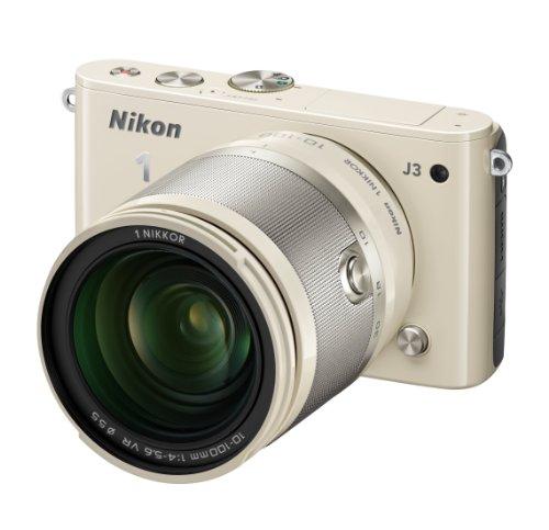 Nikon ミラーレス一眼 Nikon 1 J3 小型10倍ズームキット1 NIKKOR VR 10-100mm f/4-5.6付属 ベージュ N1J310ZKBG