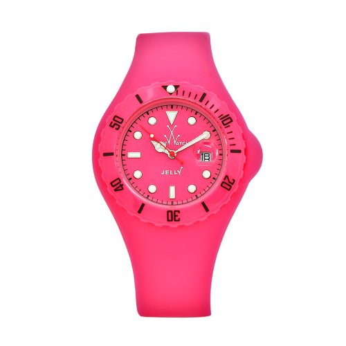 Toy Women's JYPKS Jelly Pink Dial and Silicone Strap Watch
