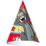 Tom and Jerry Cone Hats (8 count) Party Accessory