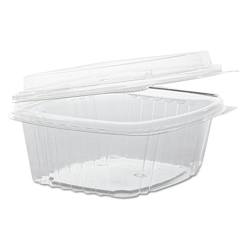 Genpak AD12F Clear Hinged Deli Container, APET, 12 oz, 5 3/8 x 4 1/2 x 2 7/8 (Case of 200) (Clear Plastic Containers 12 Oz compare prices)