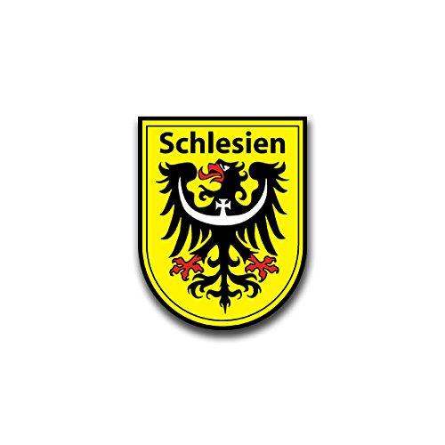 Aufkleber / Sticker - Schlesien Wappen Sticker Aufkleber Silesia Adler Wappen Abzeichen Emblem passend für Jeep Opel VW Golf GTI 3er BMW Mercedes Benz 6x7cm #A823