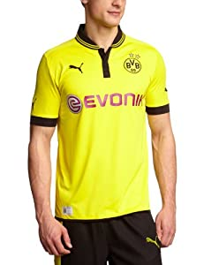 PUMA Herren Trikot  BVB Home Replica, blazing yellow-black, L, 741410 01