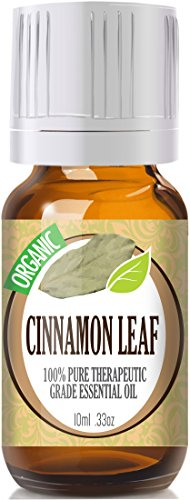 Cinnamon Leaf (Organic) 100% Pure, Best Therapeutic Grade Essential Oil - 10Ml