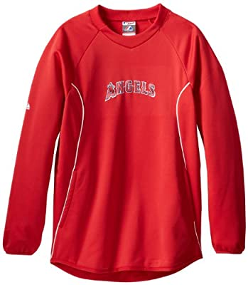 MLB Los Angeles Angels Long Sleeve Crew Neck Tech Fleece Pullover