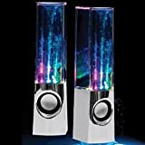 Plug and Play Muti-colored Illuminated Dancing Water Speakers (Black)