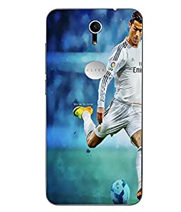 Snazzy Cristiano Ronaldo Printed Multicolor Soft Back Cover For Swipe Elite Plus