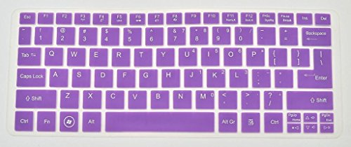Generic Silicone Laptop Keyboard Cover Skin Protector For Acer Aspire S3, S5 Aspire One 756 V5-171 Aspire One Ao756 Ao725 V5-121 V5-131- Translucent Purple