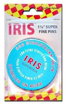 Iris Swiss Superfine Pins Tin of 500