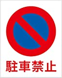 「駐車禁止(S)」 床や路面に直接貼れる 路面表示ステッカー 300X240mm