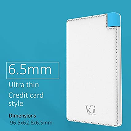 VG Munoth J15 2500mAh Power Bank with U201 2.1A Wall Charger & C207 2.6A Car Charger